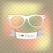 Hipster decorative background with glasses