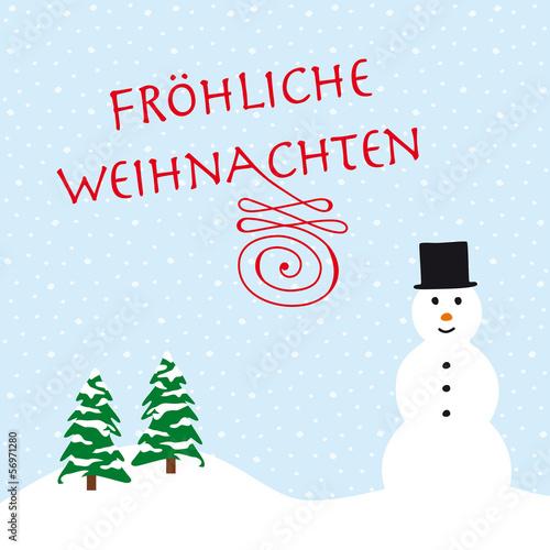 fröhliche weihnachten schneemann