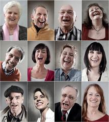 Fröhlich Lachende menschen