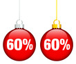 """Christmas Balls Sale """"60%"""" Red"""