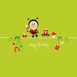 Ladybug Bouquet & Symbols Green
