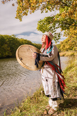 The woman the shaman will execute a ceremony - causes spirit of