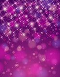 christmas purple background with brilliance stars poster