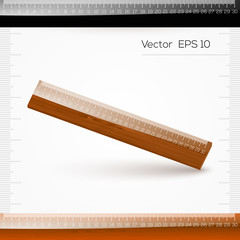 Vector ruler with the scale of centimeters