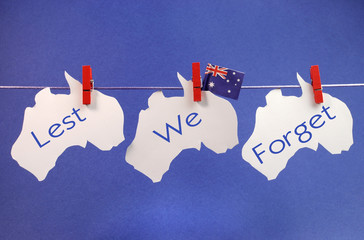 Australian flag & maps Remembrance or Anzac Day bunting