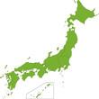 Green Japan map