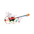 Abstract music background with bouzouki