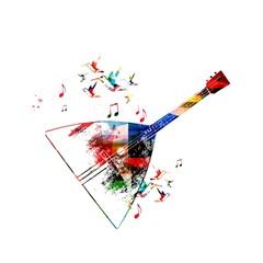 Abstract music background with balalaika