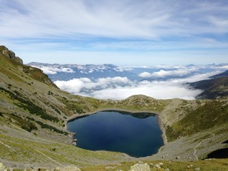 Lac de crop Alpes