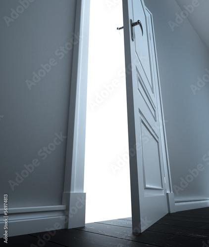 door to white