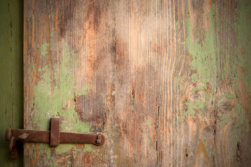 Old door with deadbolt