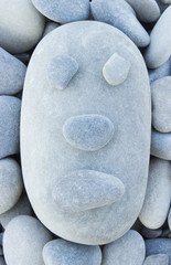 Sad face (pebbles, strones), - valerie barry