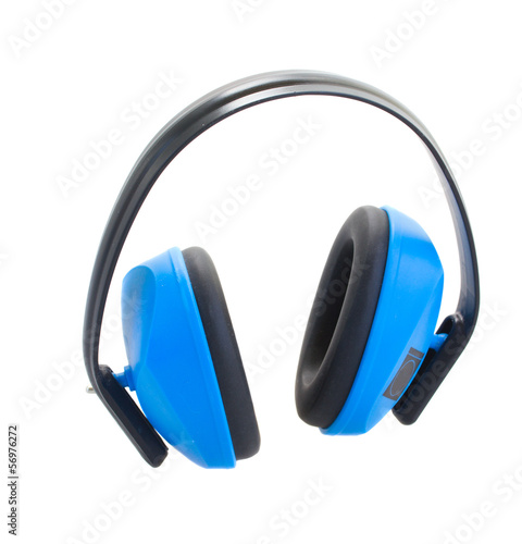 Hearing protection blue  ear muffs