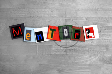 Mentor - sign for mentoring, coaching or business guru