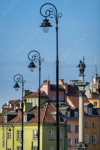 King Zygmunt III Waza statue at Old Town in Warsaw © Cinematographer