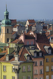 Fototapety Tenements facades of Old Town in Warsaw