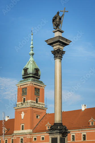 Castle Square with king Zygmunt III Vasa column, Warsaw.