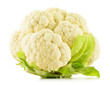 Fresh raw cauliflower isolated on white background