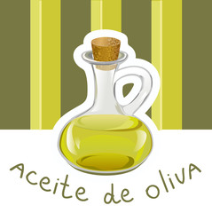 label with olive oil