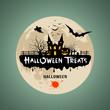 Halloween treats message background
