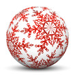 Kugel, Schneeflocke, Eis, Eisblume, Sphere, Winter, Symbol, 3D