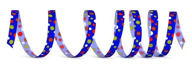 Luftschlange, Papierschlange, Fasching, Silvester, Deko, Design