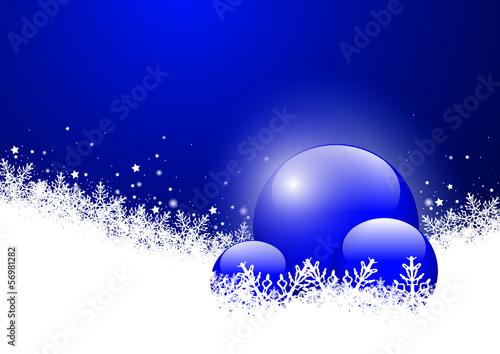 Hintergrund, Kugel, Glaskugel, Winter, Schnee, Vorlage, Blau
