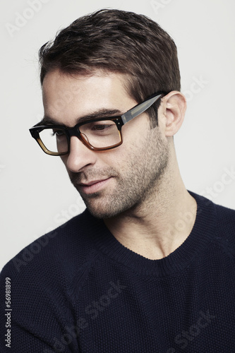 Portrait of mid adult man in glasses