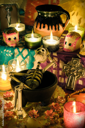 Day of the dead altar, Dia de Muertos