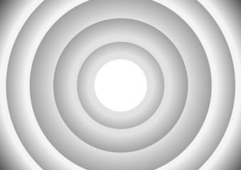 Cercles concentriques - gris