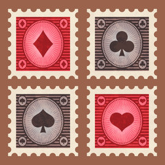 Set of Poker Stamps