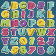 Retro 3D Alphabet and Numbers