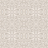 Thin lace seamless pattern. White curls on a beige background