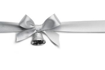 Silver ribbon bow