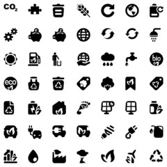 iconset ecology black