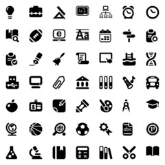 school iconset black