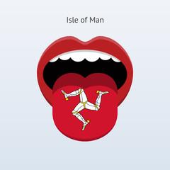 Isle of Man language. Abstract human tongue.