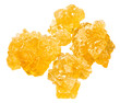 yellow crystalline caramelized sugar