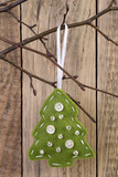 Christmas tree felt decoration
