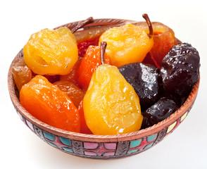 armenian sugared sweet fruits in bowl