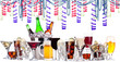 different alcohol drinks - holiday concept