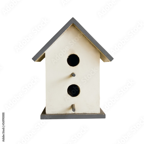 Nestling box isolated on white background