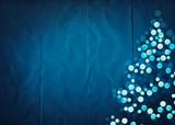 blue paper christmas design