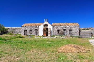 Sardinia - small chapel in San Pietro island