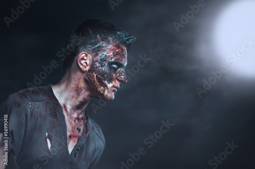 zombie in the moonlight