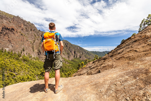 Hiker or runner in mountains
