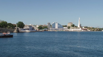 overview of the bay in Sevastopol