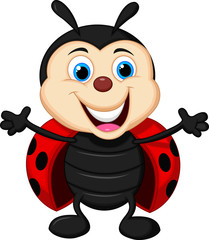 Happy ladybug cartoon