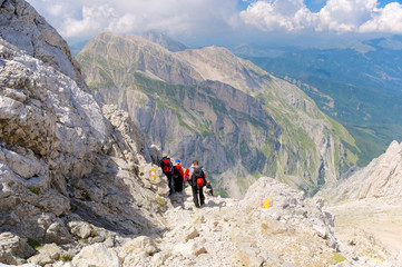 Hiking in the mountains of Gran Sasso National Park
