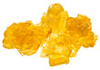 pieces of yellow crystal caramel sugar